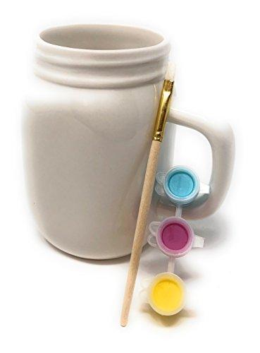 ArtMinds Mason Jar Mug Ceramic Painting Kit-5 piece