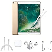 2017 New IPad Pro Bundle (4 Items): Apple 10.5 inch iPad Pro with Wi-Fi 64 GB Gold, Apple Pencil, Mytrix USB Apple Lightning Cable and All-in-One Travel USB Charger