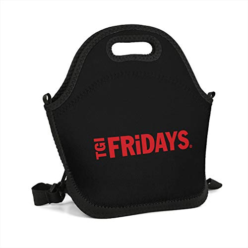 BYQPJTNZ TGI Friday's Lunch Box Work Lunch Tote Insulated Cute Bag Men Womens Kids Girls (Best Food At Tgi Fridays)
