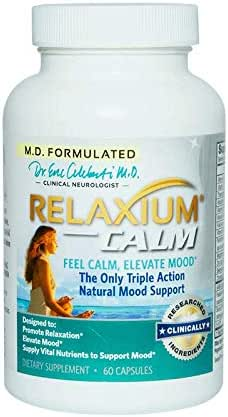 RELAXIUM CALM-Mood Support-Natural Anxiety Supplement-Stress-Anxiety Relief-Relaxation Enhancer-Sleep Aid-Natural Insomnia-Sleeping Pills-Memory Pill-Energy Support-5-HTP-Passionflower-GABA-B6-60 caps