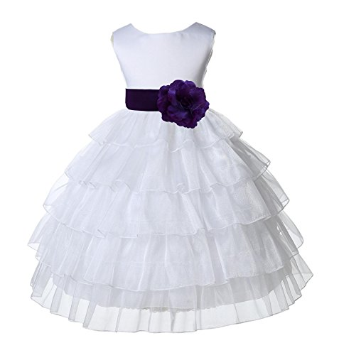 Wedding Pageant Organza Flower Bridesmaid product image