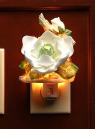 (Cosmos 2126 Fine Porcelain Lighted Magnolia Night Light, 3-1/8-Inch)