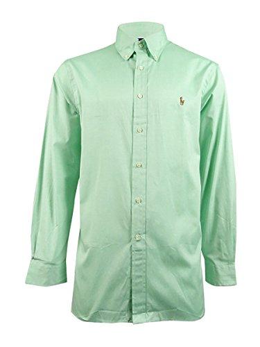 Polo Ralph Lauren Men's Solid Pinpoint Dress Shirt, Mint, 17.5