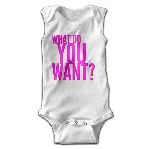 Hyhyhei What Do You Want Baby Sleeveless Bodysuits Unisex Cute Lap Shoulder Onesies - Long Term Loans