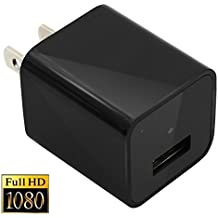 Moosoo 1080P HD Wall Charger Hidden Camera USB Wall Plug Adapter Home Security Camera Nanny Cam External Memory Version