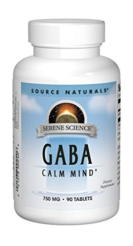 Source Naturals Serene Science GABA 750mg Calm Mind Supplement Natural Support - With Added Magnesium, Glycine, N-Acetyl L-Tyrosine, Taurine & More - 90 Tablets