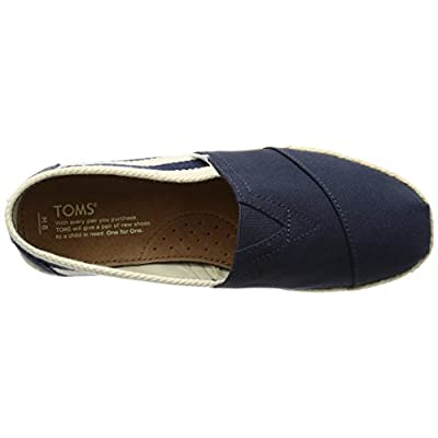TOMS Men's Classic Canvas Stripe Black Ankle-High Slip-On Shoes - 11M | Fashion Sneakers
