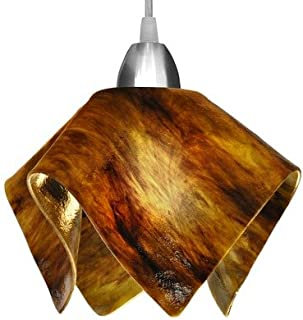 product image for Jezebel Signature Flame Track Lighting Pendant Small. Hardware: Black. Glass: Earth
