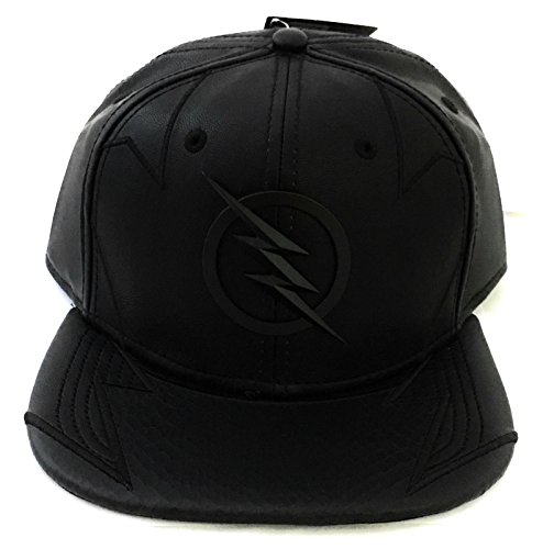 Zoom Leather - DC Comics Flash- Zoom Faux Leather Snapback Hat- One Size