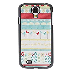Bird and Flower Pattern Hard Case for Samsung Galaxy S4 I9500