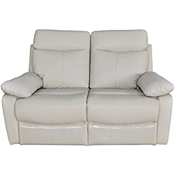 Christies Home Living Ryker Taupe Leather Contemporary Reclining Loveseat