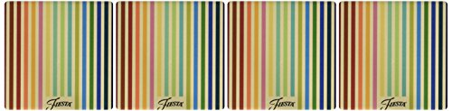 Thirstystone Occasions Stoneware Drink Coasters, Fiesta Striped Masquerade