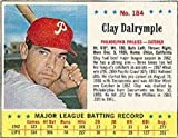 1963 Jello Regular (Baseball) Card# 184 Clay Dalrymple of the Philadelphia Phillies VG Condition