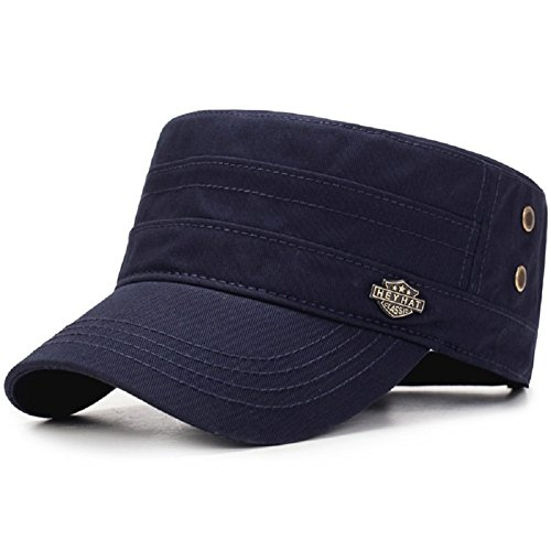 adet Cap Sun Protection Adjustable Military Style Hat (Blue) ()