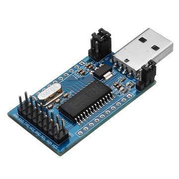 Parallel Module - SumoTik CH341A USB To UART IIC SPI TTL ISP EPP/MEM Parallel Port Converter Module Onboard Operating Indicator Lamp, Board & Shield Converter Board