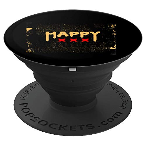 Happy Halloween with Cemetery n Bat Grip Funny Scary Gift - PopSockets Grip and Stand for Phones and Tablets -