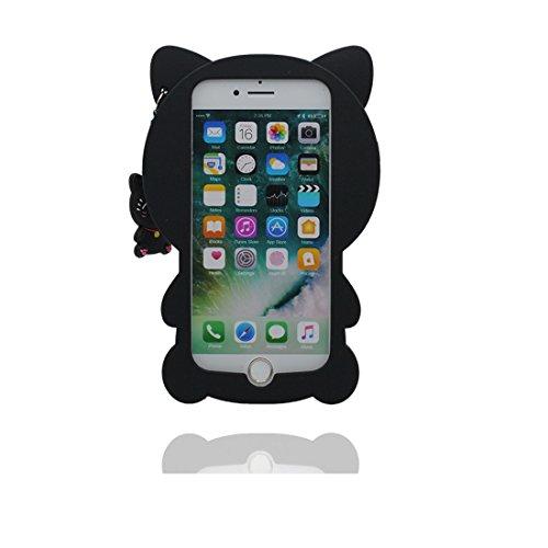 """iPhone 7 Plus (5.5"""") Coque, [ de matériau TPU souple élégant durable chat ] iPhone 7 Plus étui (5.5 pouces), poussière glissement résistant aux rayures, iPhone 7 Plus Case et stylet"""