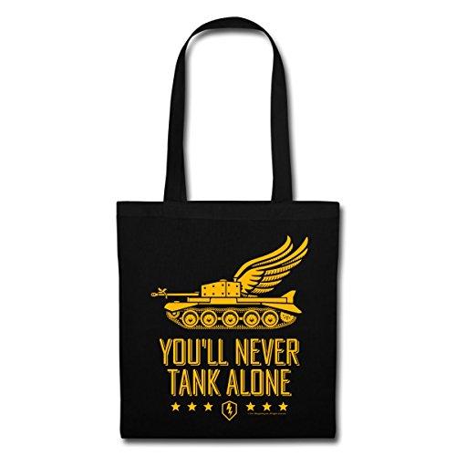 Never Tank Tote Of Tanks Alone Bag Spreadshirt Black You'll World Blitz HwZUHXqF