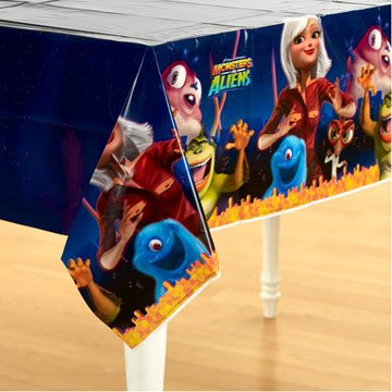 Monsters vs Aliens 54in x 102in Paper Tablecover -