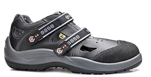 BASE Sicherheits-Sandale S1p B493 Double Black Schwarz