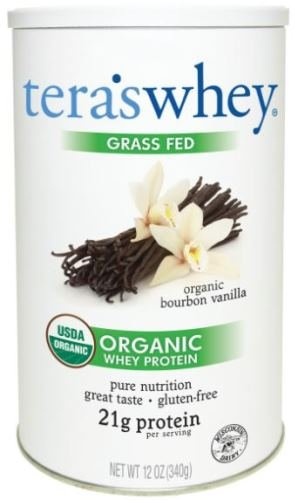 tera's: Organic Low-Carb Gluten-Free Certified Whey Protein, Bourbon Vanilla, 12 ounce (Whey Vanilla Bean)