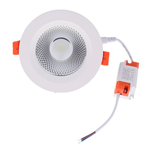Homyl Aluminum Round LED Downlight Recessed Fixture Ceiling Lamp Easy Installed - 3.5 inch 10W COB by Homyl (Image #10)