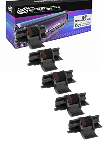 Speedy Inks Compatible Ink Roller Replacement for Casio IR-40|CP-13 (Black and Red, 5-Pack)