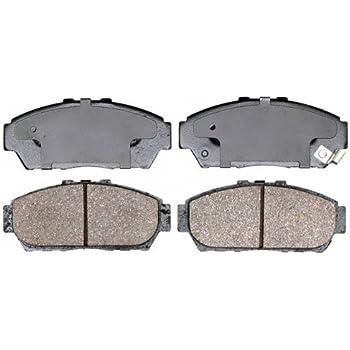 REAR Premium Ceramic Brake Pads Fits  88-91 Honda PreludeW//Hardware Kit