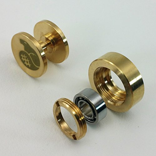 R188 to 608 Bearing Adapter Core - Fidget Spinner Upgrade Kit by Bever Products (Brass) (Core Bearings)