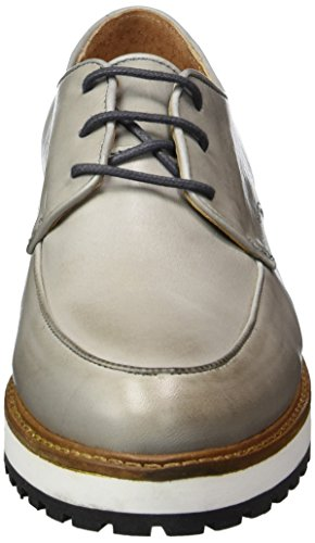 25 Up Grey Bianco Dress Zapatos de Cordones Derby Gris Mujer para Laced 49297 UtTwqFT