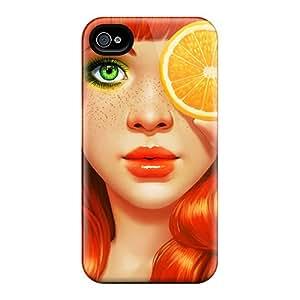 Excellent Design Orange Slice Case Cover For Iphone 4/4s