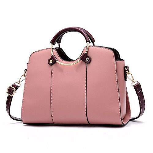 Many Soft Wristlet Capacity Shoulder Pink Casual Bags Pockets Large Small MSZYZ with Cross PU Shoulder Vintage Body Clutch Leather Women's Shoulder qFfwR674