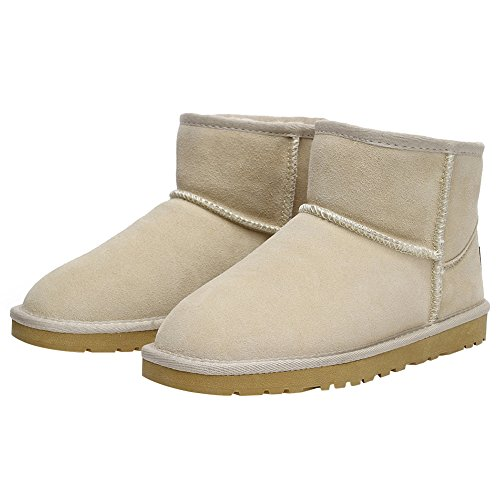 Women US11 SN1054 Boots Winter Boots Sand Comfort Suede Fur rismart Snow Lined Ankle Warm BAwwqFd