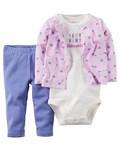 - Carter's Baby Girls' 3 Piece Cardigan Set 126g109, Make Me Smile 3 Months