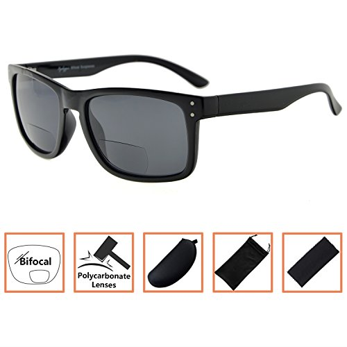 Mens Womens Bifocal Sunglasses UV 400 Protection Readers Bifocal +1.50 by BFOCO