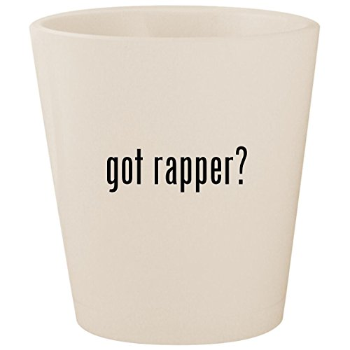 got rapper? - White Ceramic 1.5oz Shot Glass -