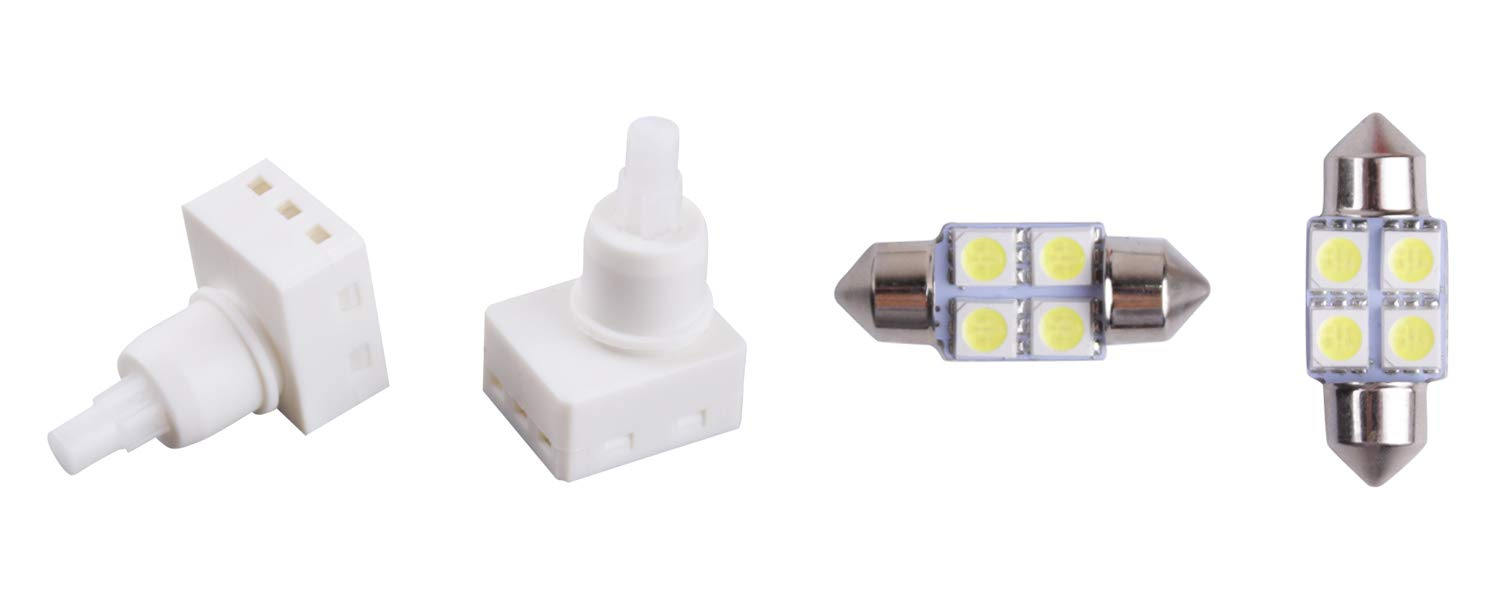 Pairs Dome Lamp Switch for Honda Odyssey Accord Pilot Ridgeline Dodge Ram 1500 Map Light Switch Replace 34404-SDA-A21, 34404-SDA-A22D3, 924-798 (Bonus Light Bulbs) Xislet