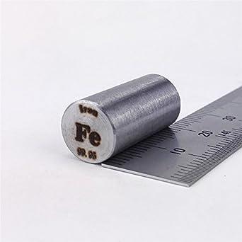 Pure Iron Metal Rod 99.95% 12grams 10 diameterx20mm length ...