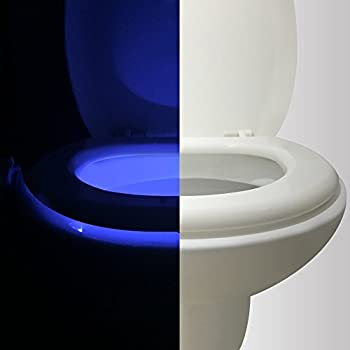 this item motion activated toilet night light vintar body auto motion activated sensor colorful nightlight 16color changes only activates in darkness