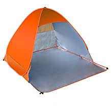 Maphissus Pop Up Tents Baby Beach Tent Outdoor Automatic Tent Instant Portable Anti UV-Protective Beach Shelter For Double Beach Party Park Camping Cabana Family (1-2 Person) (Orange)