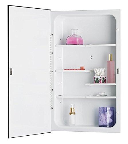 Jensen 835P24WHDX Polished Edge Mirror Medicine Cabinet, 16