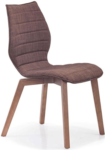Zuo Modern 300224 Logic Orange Fabric Barstool, (Set of 2)