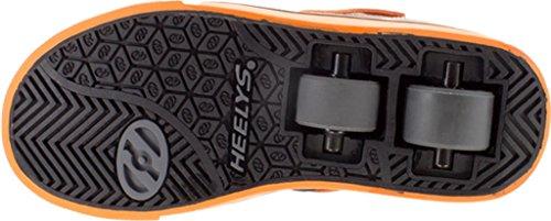 Heelys Kids Twister X2 Gry/Blk/ORG Smlea Sneaker