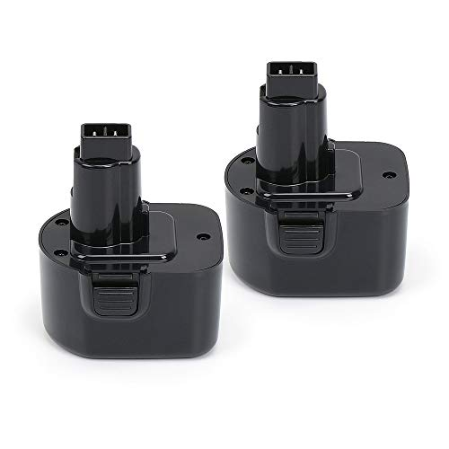 (PowerGiant 12V 2.0Ah Battery Power Pack for Black & Decker PS130 Firestorm A9252 A9275 PS130A (2-Pack))