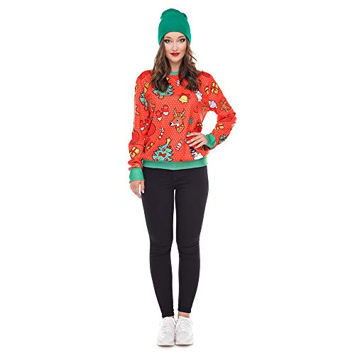 Clearance!Youngh Christmas Womens Sweatshirts Snowman Elk Print Loose Long Sleeve Casual Pullover T Shirt Tops
