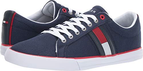 Tommy Hilfiger Men's Pally Sneaker, Dark Blue, 10 Medium US