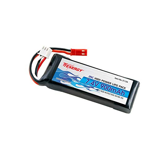 Tenergy 7.4V 900mAh LiPo Battery Pack High Discharge Rate 25C Rechargeable RC Battery Pack for Blade CX, CX2, CX3 Helicopter