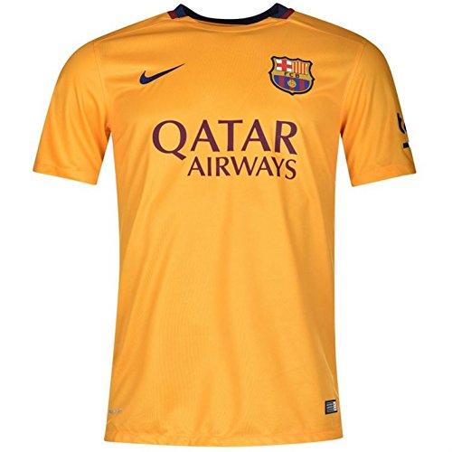 Nike Boys Barcelona Away Stadium Jersey [University Gold] (M)