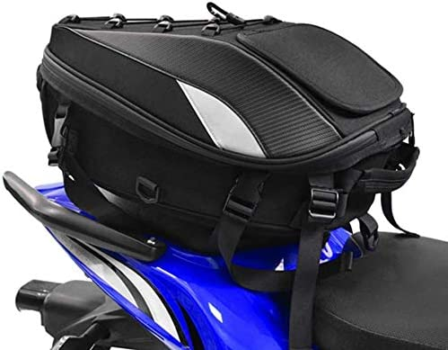 JFG RACING Motorcycle Seat Tail Bag Backpack