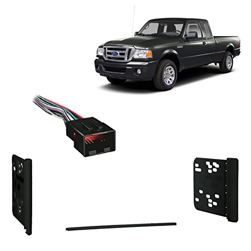 Fits Ford Ranger 1998-2011 Double DIN Stereo Harness Radio Install Dash Kit (Ford Ranger Dash Install Kit)
